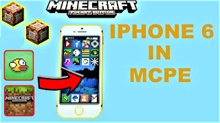 WORKING IPHONE 6 PLUS IN MCPE ! PLAY FLAPPYBIRD, MCPE IN MCPE & MORE ! COMMAND BLOCK MAP MCPE 1.0.5