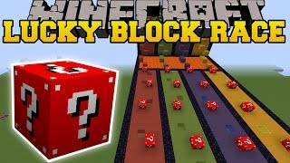 getlinkyoutube.com-Minecraft: EXTREME RED LUCKY BLOCK RACE - Lucky Block Mod - Modded Mini-Game
