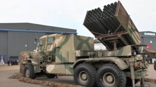 AAD 2016: Samil 100 mounted Bateleur multiple rocket launcher