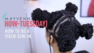 getlinkyoutube.com-How To Do A Vixen Sew-In (w/ Curly Hair)