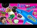 EAT MY BUTT SHARK! AMAZING FROG FART GYM & Inflatable Bouncy Castle Sky Fun FGTEEV Part 6 Gameplay