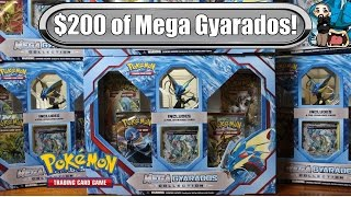 getlinkyoutube.com-Opening 10x Mega Gyarados Collection Boxes! $200+ worth! Pokemon TCG unboxing