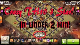 getlinkyoutube.com-Art of the 3 Star: #4 Max TH10s 3 Starred by Crazy Troop Compositions!