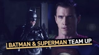 Batman and Superman Team Up width=