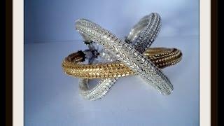getlinkyoutube.com-DIY: Bracciale Ragno con la tecnica herringbone circolare