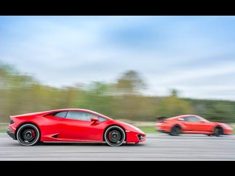 Porsche 991 GT3 RS vs Lamborghini Huracán LP580-2