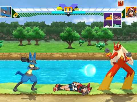 Mugen Vore - (Ðshiznetz)Lucario vs Blaziken and May