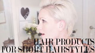 getlinkyoutube.com-3 Hair Products for short hairstyles + 3 ways to style short hair