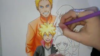 getlinkyoutube.com-Speed Drawing - Uzumaki Family (Naruto, Hinata, Boruto and Himawari)