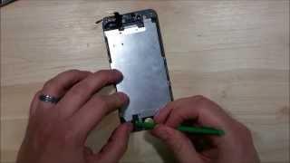 getlinkyoutube.com-iPhone 6 Screen Repair Replacement Installation- Home Button, Ear Speaker, Front Facing Camera