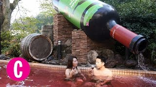 getlinkyoutube.com-This Japanese Spa Lets You Swim in a Pool of Red Wine | Cosmopolitan