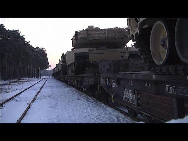 Aufrüstung im Osten: Erste US-Panzer erreichen Polen