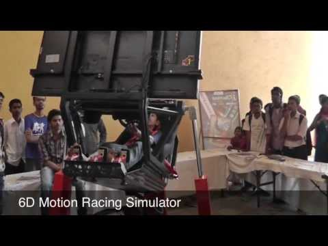 Techfest 2013 IIT Bombay Racing Simulator 6D