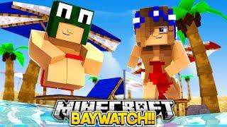 getlinkyoutube.com-Minecraft Baywatch #1-LITTLE CARLY BECOMES A LIFEGUARD!!