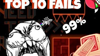 getlinkyoutube.com-Top 10 Most Stupid Fails Ever In Insane Demons [GEOMETRY DASH]