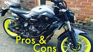 Pros & Cons of the Yamaha MT07/FZ07