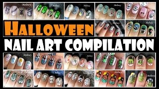 getlinkyoutube.com-HALLOWEEN NAIL ART COMPILATION | MELINEY DESIGNS
