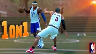 getlinkyoutube.com-Allen Iverson Got His Ankles Broken? - NBA 2K16 1on1 #14