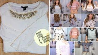 getlinkyoutube.com-5 DIY Sweatshirts/Sweaters Collab w/MaiStyyle