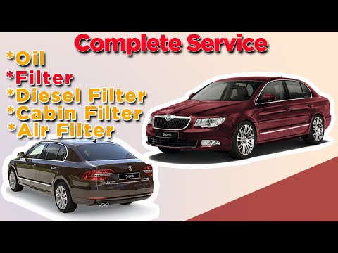 Skoda Superb oil change Full Service and throttle body cleaning fault code p0121