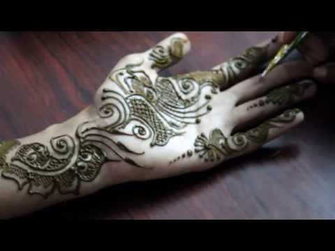 Simple & Cute Arabic Mehendi Design Front Hand - ILoveMehandi.TV