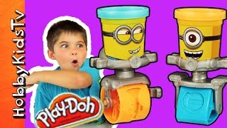 getlinkyoutube.com-Minion Play-Doh Cans! Karate Chop by HobbyPig HobbyKidsTV