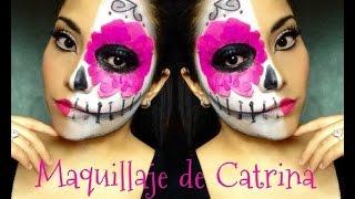 getlinkyoutube.com-Maquillaje de catrina (Dia de muertos 2014)