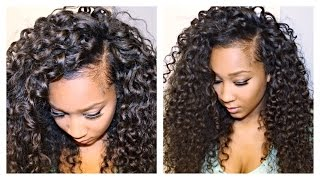 getlinkyoutube.com-How to blend your leave out with Curly Hair Extensions