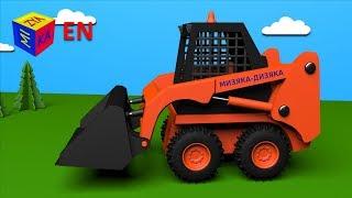 getlinkyoutube.com-Trucks for children kids toddlers. Construction game: skid loader. Educational cartoon