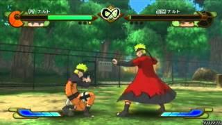 getlinkyoutube.com-Naruto Shippuden: Gekitou Ninja Taisen Special - Naruto vs Sage Mode Naruto【HQ】