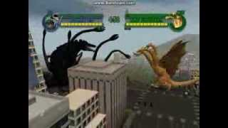 Biollante vs King Ghidorah - Godzilla Save The Earth