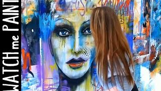 getlinkyoutube.com-Abstract  art painting - Speedpainting Portrait in street-art style by zAcheR-fineT