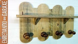getlinkyoutube.com-Cómo hacer un colgador con madera de palé