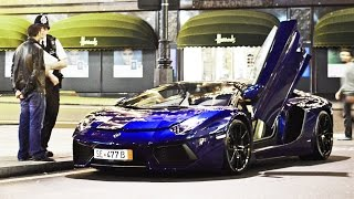 getlinkyoutube.com-New arrival in London - Instantly pulled over (Lamborghini Aventador Roadster)