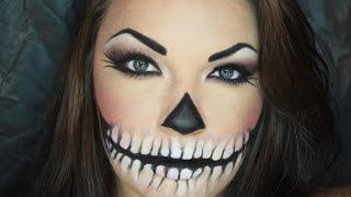 getlinkyoutube.com-Calavera Sexy/Sexy Skull Halloween Makeup Turorial (EASY)
