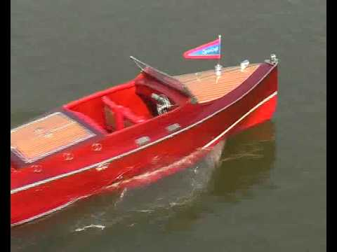 Fast Remote Control (RC) Chris Craft Runabout Wooden Speed Boat Model by Handcrafted Model Ships.com