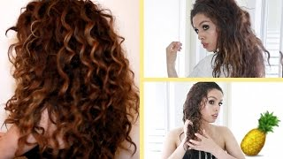 getlinkyoutube.com-Pineapple Hair Trick!!! Curly Hair Routine ♡