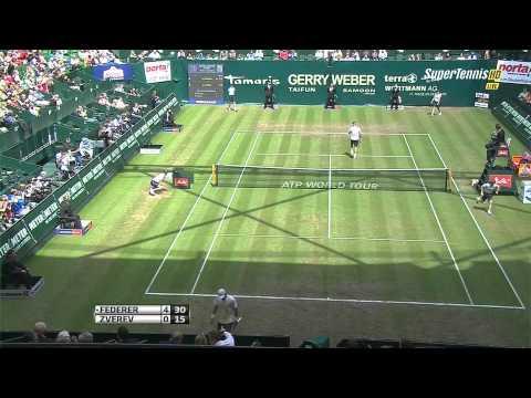 Federer  Zverev Halle 2013 QF HD