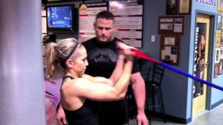 getlinkyoutube.com-Women Fitness Training Workout For Triceps, Biceps and Chest