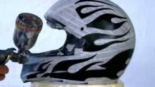 getlinkyoutube.com-aerografia em capacete