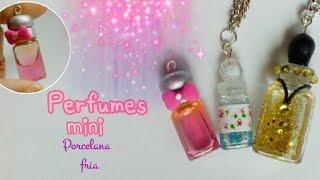 getlinkyoutube.com-Perfumes Mini ✨ colgantes perfumes falsos PORCELANA FRIA