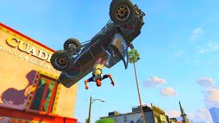 getlinkyoutube.com-GTA V Unbelievable Crashes/Falls - Episode 43