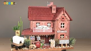 getlinkyoutube.com-Billy Miniature Western Saloon Kit ミニチュアキット ウエスタンパブ作り