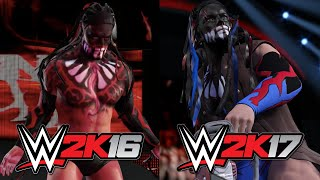 getlinkyoutube.com-WWE 2K17 vs WWE 2K16 - Superstar Face Graphics COMPARISON!