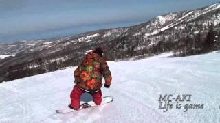 getlinkyoutube.com-Snowboard GroundTrick in HOKKAIDO ( butter , flatland , flateos )  FTWO/RANDOM