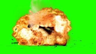 getlinkyoutube.com-Police Car explodes - Big Fire Explosion - green screen effects