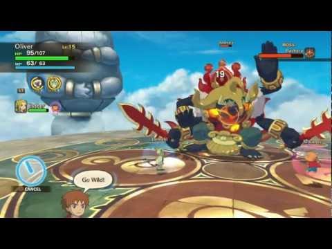 Ni No Kuni: Temple of Trials - Test of Strength (boss fight Bashura) [HD]