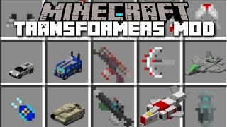 getlinkyoutube.com-Minecraft TRANSFORMERS MOD / TRANSFORM IN TO VARIOUS CARS AND PLANES!! Minecraft