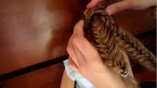 getlinkyoutube.com-How To Do a Fishtail Braided Bun on Your American Girl Doll