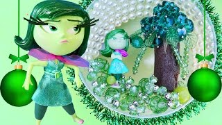 getlinkyoutube.com-INSIDE OUT DISGUST CHRISTMAS Broccoli Tree Bauble Ornament Make Your Own Decorations Beads Gems